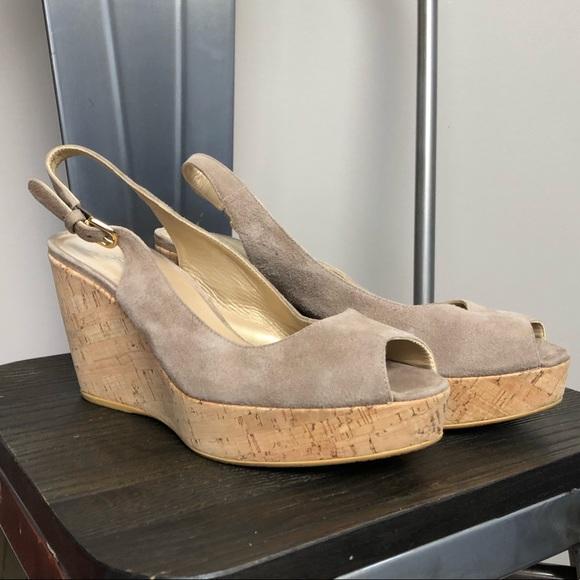 518235b58e Stuart Weitzman cork slingback suede wedge sandals.  M_5c74767e61974564f98f8eaf